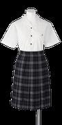 城ノ内中等教育学校女子夏制服(半袖開襟ブラウス着用)