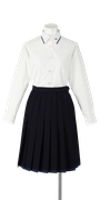 小松島西高校女子合い制服(長袖ブラウス着用)