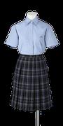城東高校女子夏制服(半袖ブラウス着用)