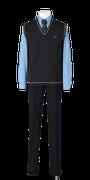 城東高校男子合い制服(ニットベスト着用)