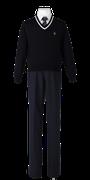 川島高校男子合い制服(セーター着用)