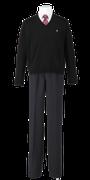 鳴門渦潮高校男子合い制服(セーター着用)