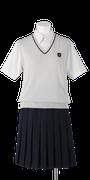 川島高校女子夏制服(夏ベスト着用)