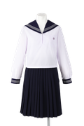 名西高校女子夏制服(長袖セーラー着用)