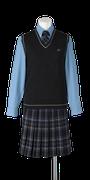 城東高校女子合い制服(ニットベスト着用)