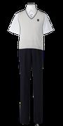 川島中学校夏制服(夏ベスト着用)