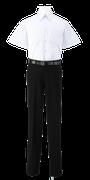 名西高校男子夏制服(半袖カッターシャツ着用)