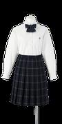吉野川高校女子合い制服(長袖ブラウス着用)