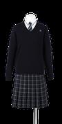 城西高校女子合い制服(セーター着用)