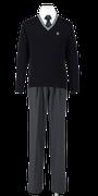 吉野川高校男子合い制服(セーター着用)