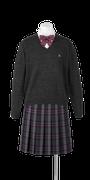 鳴門渦潮高校女子合い制服(セーター着用)
