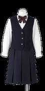 城ノ内中等教育学校女子合い制服(前開きベスト着用)