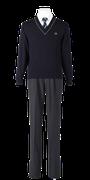 城ノ内高校男子合い制服(セーター着用)