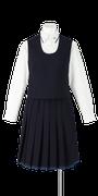 小松島西高校女子合い制服(かぶりベスト着用)