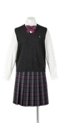 鳴門渦潮高校女子合い制服(ニットベスト着用)