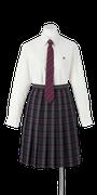 鳴門渦潮高校女子合い制服(ネクタイ着用)