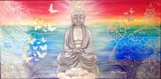 """Buddha"" Acryl 40x80/SOLD"
