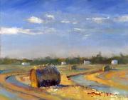 0313 Hay Bales at Sunset