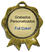Medalla Metalica - Cucarda con centro 82mm - Art-Nº2591