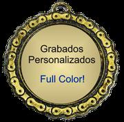 Medalla Metalica - Cadena con Centro 75mm - Art-Nº 2599