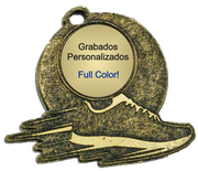Medalla Metal - Atleta con centro 60mm - Art-Nº2582