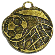 Medalla Metal  - Futbol Redondo 50mm - Art-Nº 2596