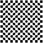"""Sind die Linien parallel? Der Effekt, dass ein Muster im Auge einen """"schrägen Eindruck"""" erzeugt, ist auch im folgenden Bild gut zu erkennen. Hier wird das (eigentlich) regelmäßige Schachbrettmuster durch kleine Kontraste in den Ecken verwackelt"""
