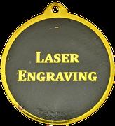 Gold Medal with Black back, Laser engraved