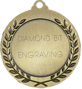 Gold Medal engraved with Diamond Bit