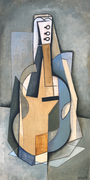 MUSICAL INSTRUMENT 1 - Oil on wood - 60x30cm - 2018