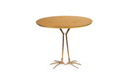 Traccia Table in Bronze, Gold Leaf by Méret Oppenheim for Simon Gavina, italy, 1972