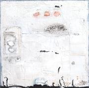 Achilles, Acrylfarbe, Sand, Holz auf Lw. 100 x 100 cm