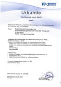 Zertifikat Fachbetrieb nach Wasserhaushaltsgesetz (WHG)