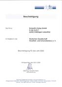 DGFS - Mitgliedsbescheinigung 2020