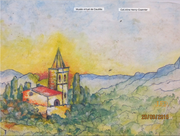 "Pastel d'Adrien Olive dit ""Pointis"" vers 1910"