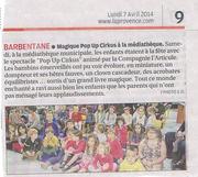 La Provence / 5 avril 14 - Barbentane