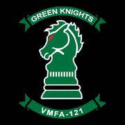 """Lo stemma del VMFA-121 """"Green Knights"""""""