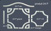 24 P - moulure en duropolymère très dur