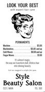"""Style Beauty Salon"", ca. 1945"