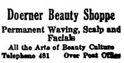 """Doerner Beauty Shoppe"" - ca. 1930"
