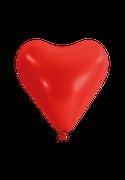 Herzballon-Rot