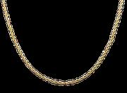 Halskette Kordelkette Kordel gedreht Halsschmuck Kette Anhänger Kettenanhänger Collier Schmuckanhänger Edelstahl edelstahlschmuck schmuck damen gold gelbgold online shop onlineshop matt poliert kaufen damenschmuck matt poliert glanz glänzend