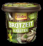 Ausgewählte, köstliche Kräuter in dem veganen Brotaufstrich Tartex BROTZEIT Kräuter sorgen für natürlich-feinen Geschmack – wie aus dem heimischen Kräutergarten.