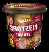 Eine herzhafte Alternative zu Wurst und Käse: der vegane Aufstrich Tartex BROTZEIT Tomate für einen fleischlosen Brotgenuss.