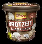 Feine Champignons in dem veganen Brotaufstrich Tartex BROTZEIT Champignon machen jede Brotscheibe zu einer wahren, herzhaften Delikatesse.
