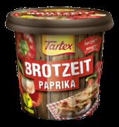Jeder Biss ein Highlight: Der vegetarische Aufstrich Tartex BROTZEIT Paprika begeistert jeden Brotliebhaber mit herrlich aromatischen Paprikastückchen in dem veganen Aufstrich.