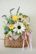 春の籠花  W18㎝×D12㎝×H32㎝  5,000円 所沢市N様