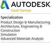 Dreicad in Ulm, Nürnberg und Berlin ist Autodesk Gold Partner und Autodesk Händler für Manufacturing, Simulation und Architektur