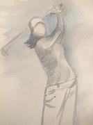 Swing, 2019, Aquarell auf Papier