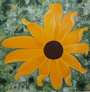 Rudbeckia (Acrylic sur toile - 100X100)